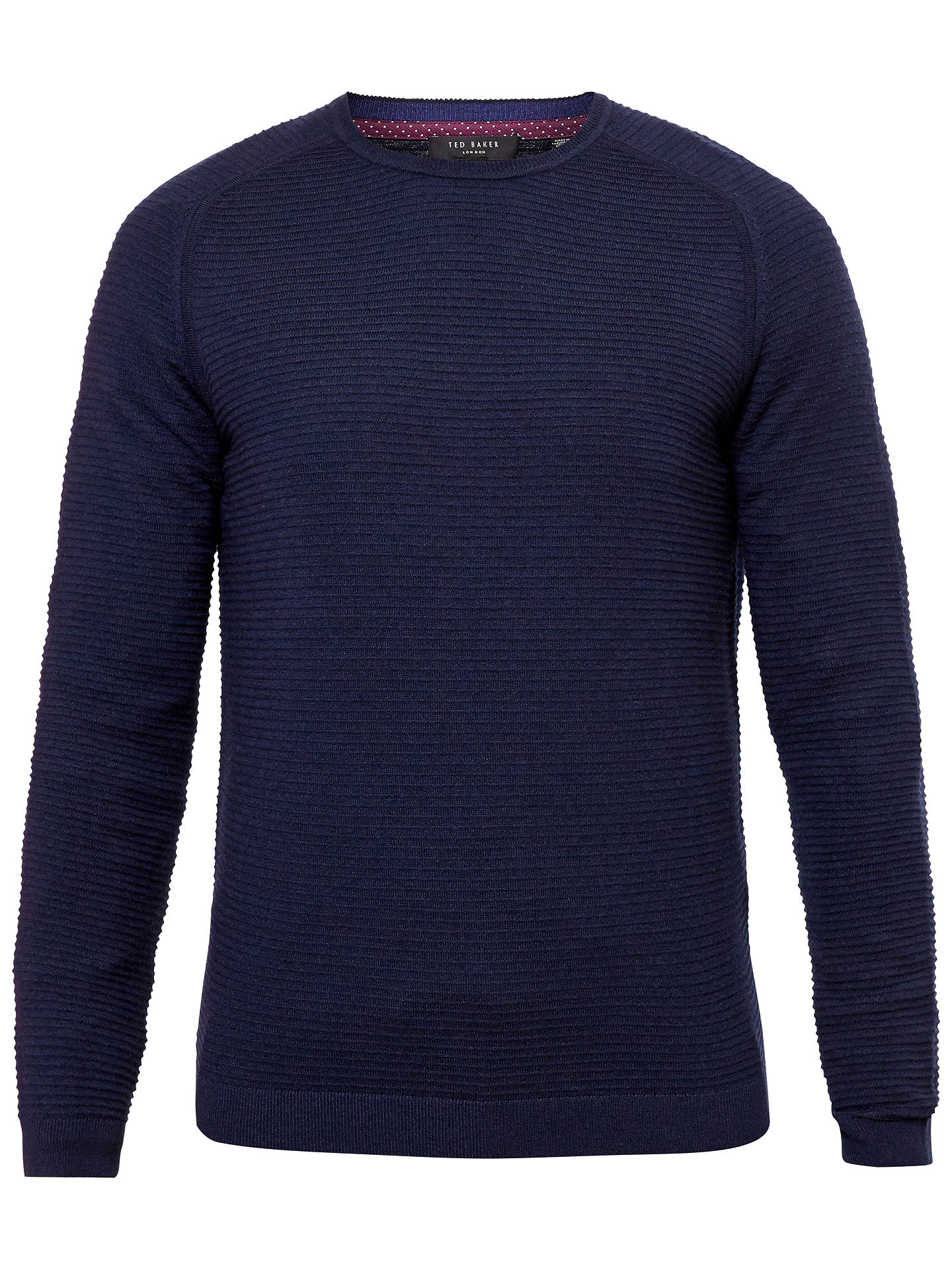 eeb49aba096c32 Ted Baker Potter Textured Crew Neck Jumper at John Lewis   Partners