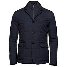Buy Ted Baker Jasper Quilted Removable Layer Jacket, Navy Online at johnlewis.com