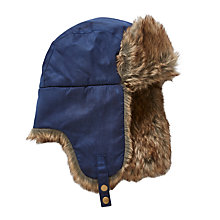 Buy John Lewis Children's Wax Trapper Hat, Navy Online at johnlewis.com