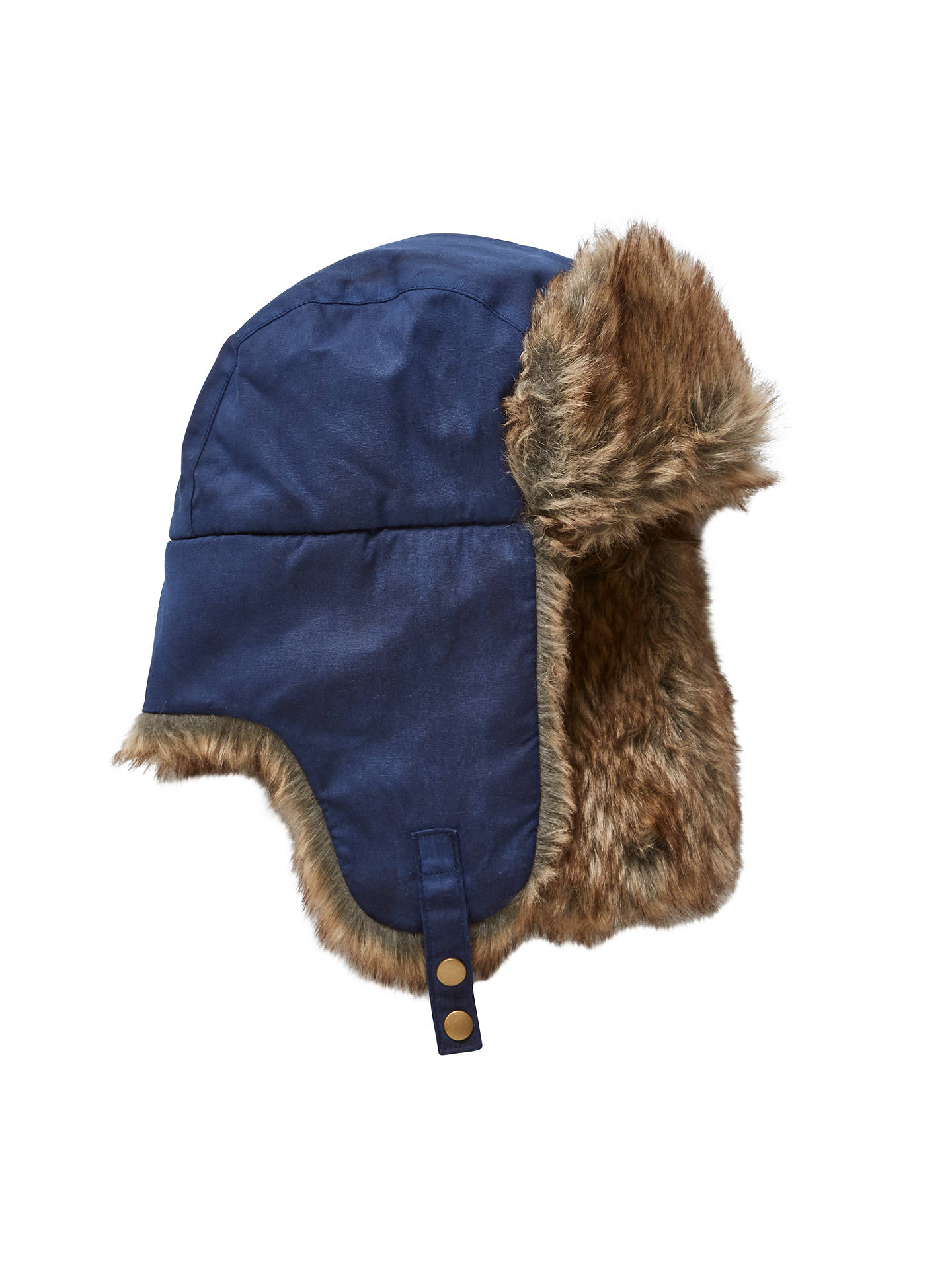 33f13dc07fd9f2 Buy John Lewis Children's Wax Trapper Hat, Navy, 3-5 years Online at ...