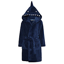 Buy John Lewis Children's Shark Robe, Navy Online at johnlewis.com