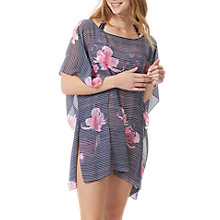 Buy Joules Rosanna Orchid Print Stripe Kaftan, French Navy Online at johnlewis.com