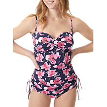 Buy Joules Delphine Orchid Print Swimsuit, French Navy Online at johnlewis.com