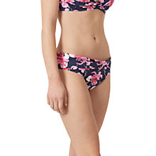 Buy Joules Belle Orchid Print Twist Bikini Bottoms, French Navy Online at johnlewis.com