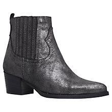 Buy Carvela Strummer Blocked Heeled Ankle Boots, Gunmetal Online at johnlewis.com