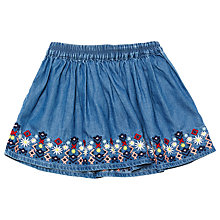 Buy Margherita Kids Baby Embroidered Chambray Skirt, Blue Online at johnlewis.com