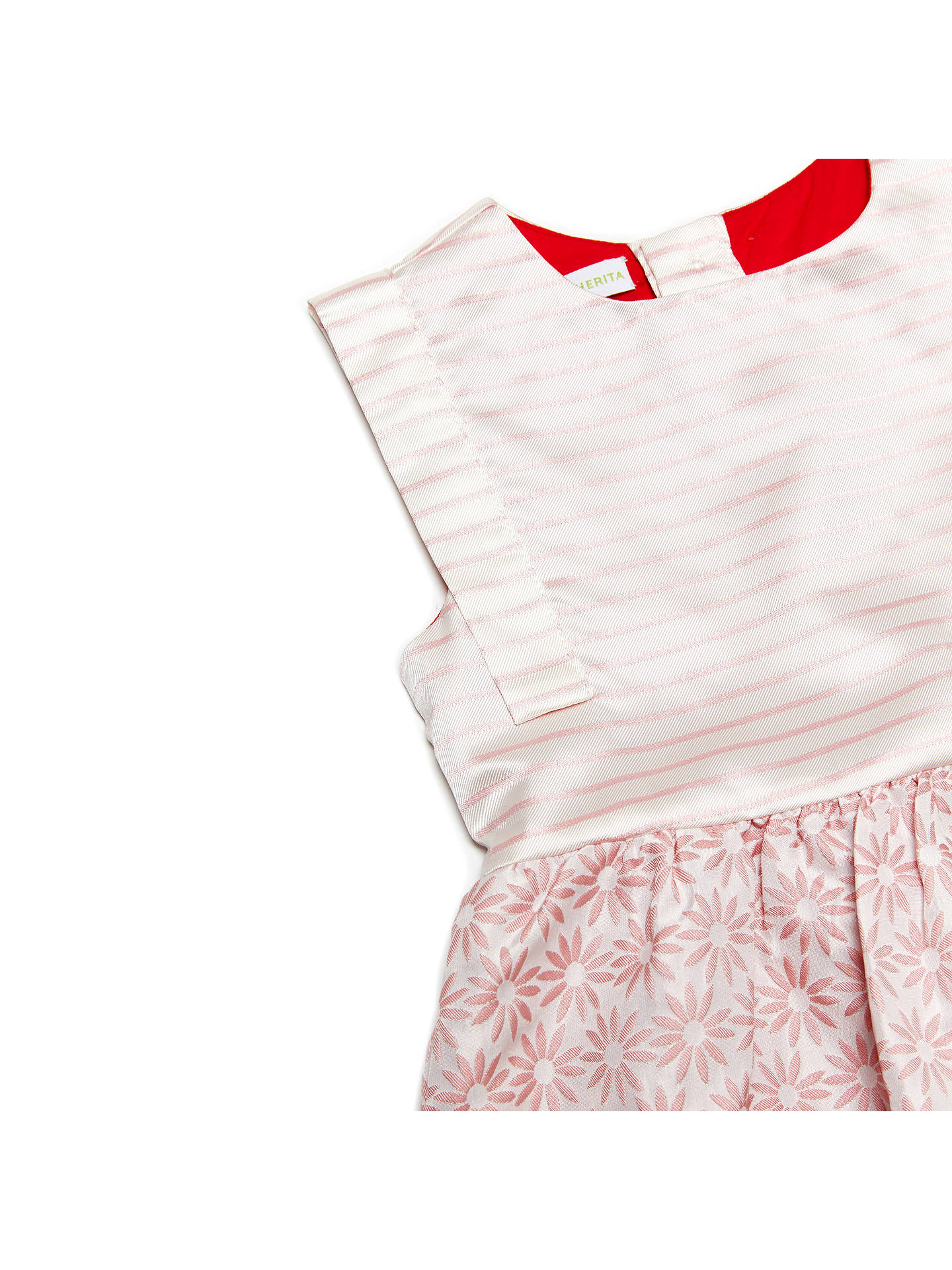 Buy Margherita Kids Girls' Jacquard Daisy Stripe Dress, Pink Icing, 3 years Online at johnlewis.com