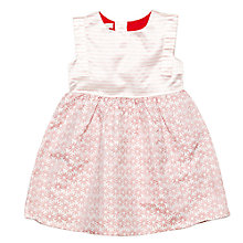 Buy Margherita Kids Girls' Jacquard Daisy Dress, Pink Icing Online at johnlewis.com
