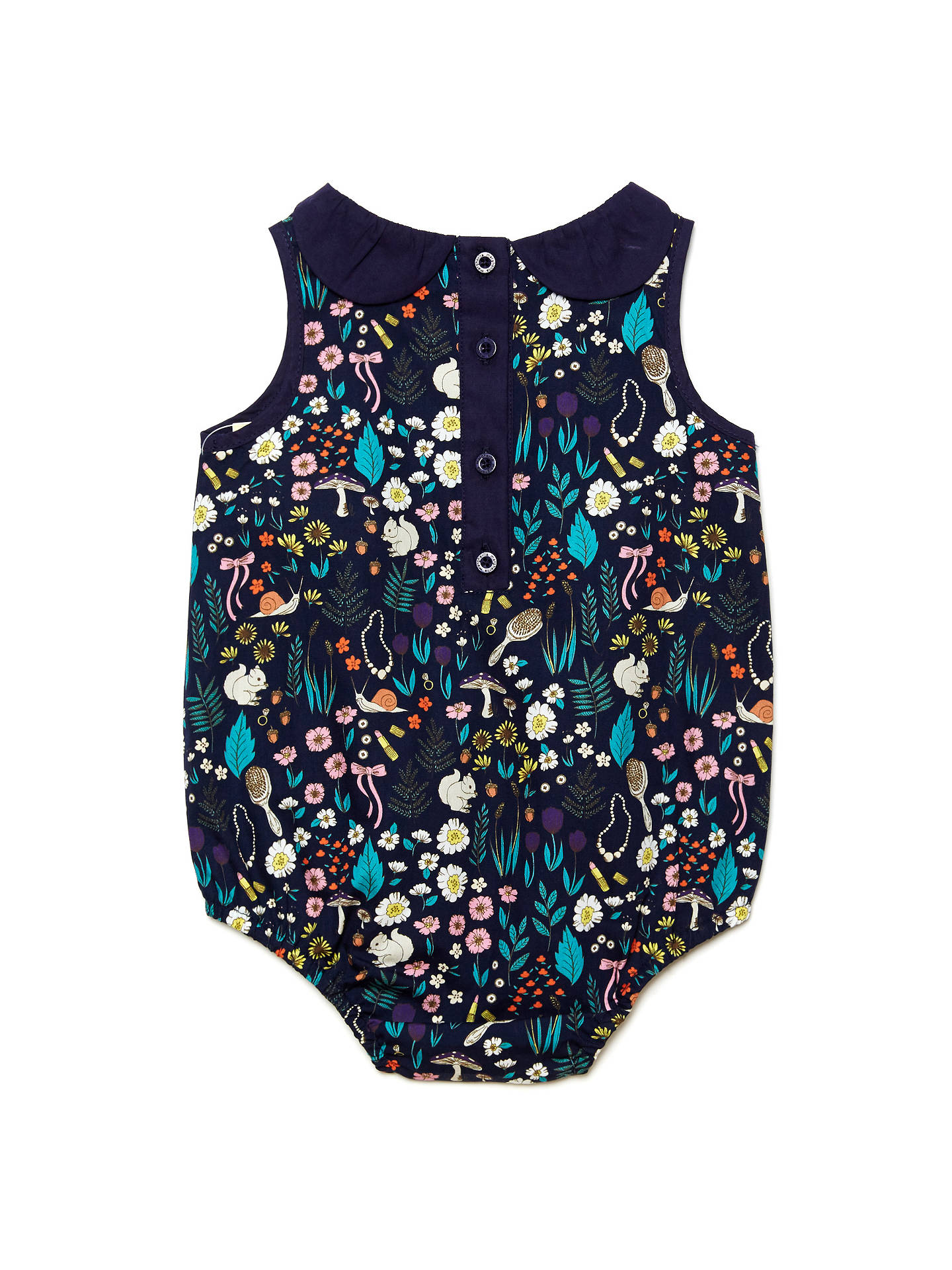 Buy Margherita Kids Baby Floral Print Bodysuit, Navy/Multi, 3-6 months Online at johnlewis.com