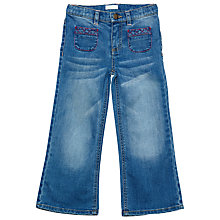 Buy Margherita Kids Girls' Wide Leg Jeans, Blue Online at johnlewis.com