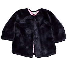 Buy Margherita Kids Baby Faux Fur Jacket, Eclipse Online at johnlewis.com