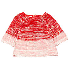 Buy Margherita Kids Baby Ombre Bell Sleeve Jumper, Hibiscus Online at johnlewis.com