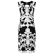Buy Phase Eight Maddie Tapework Dress, Black/Oyster Online at johnlewis.com