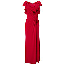 Buy Phase Eight Laurita Frill Sleeve Full Length Dress, Scarlet Online at johnlewis.com