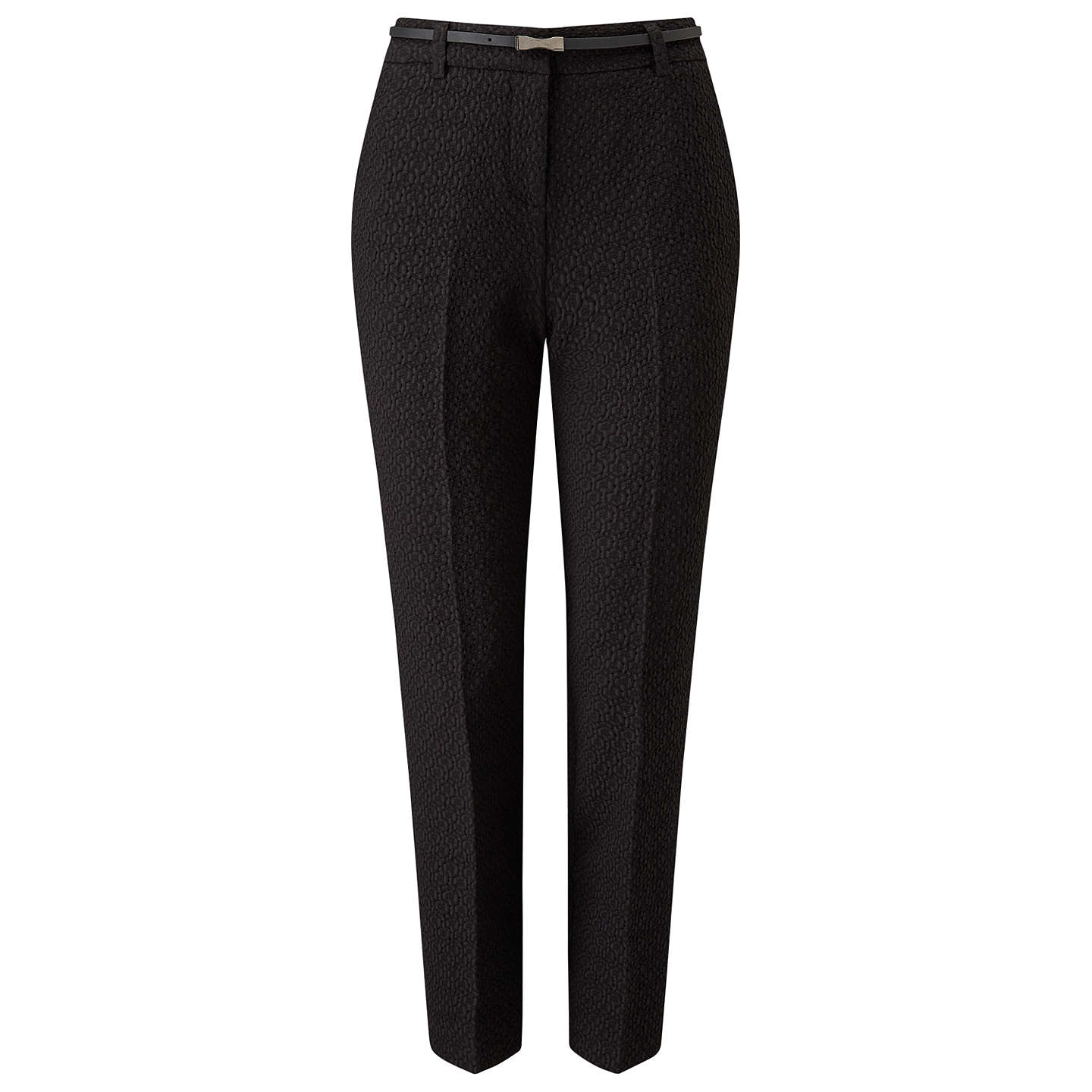 BuyPhase Eight Alice Jacquard Belted Trousers, Black, 8 Online at johnlewis.com