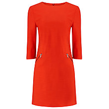 Buy Phase Eight Ponte Zip Saphire Tunic Dress, Tomato Online at johnlewis.com