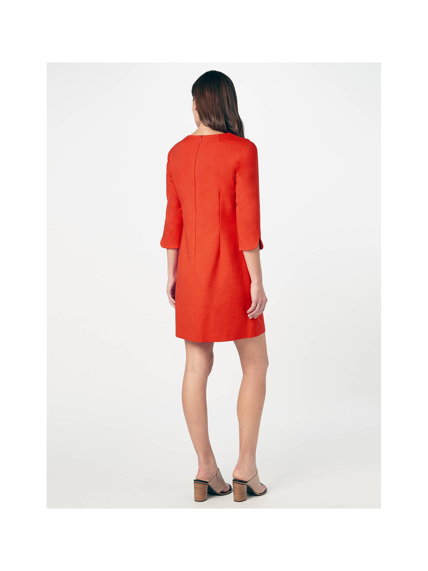 cbb56d756c9 Buy Phase Eight Ponte Zip Saphire Tunic Dress, Tomato, 8 Online at  johnlewis.