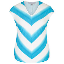 Buy Chesca Ombre Stripe Chevron Jersey Top, Ivory/Turquoise Online at johnlewis.com