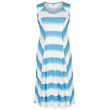 Buy Chesca Ombre Stripe Chevron Jersey Dress, Ivory/Turquoise Online at johnlewis.com