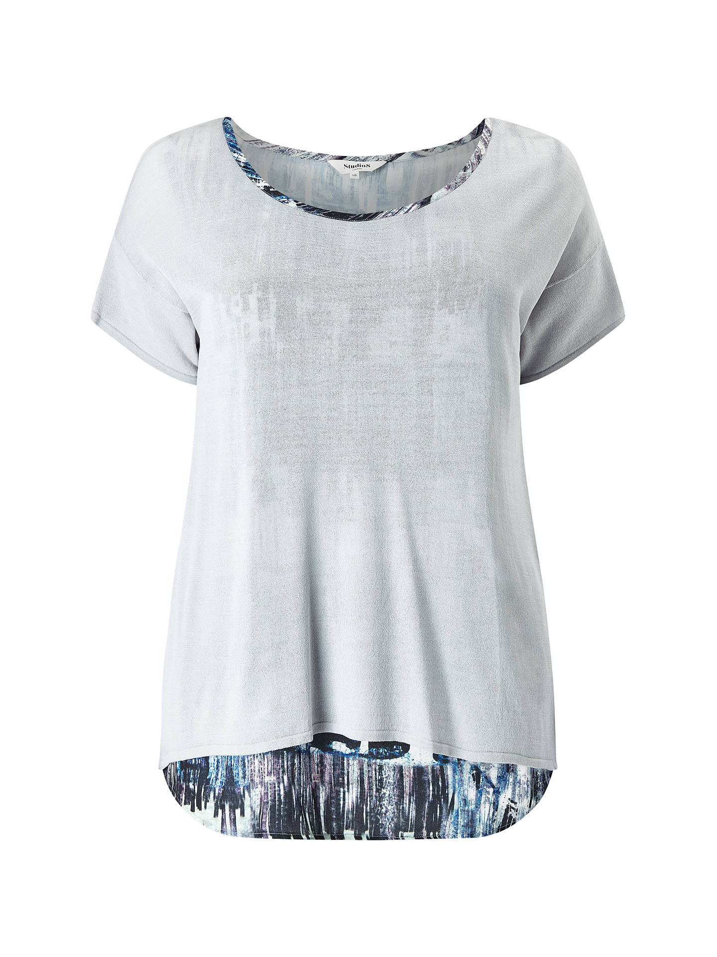 Buy Studio 8 Klarissa Top, Grey/Multi, 18 Online at johnlewis.com