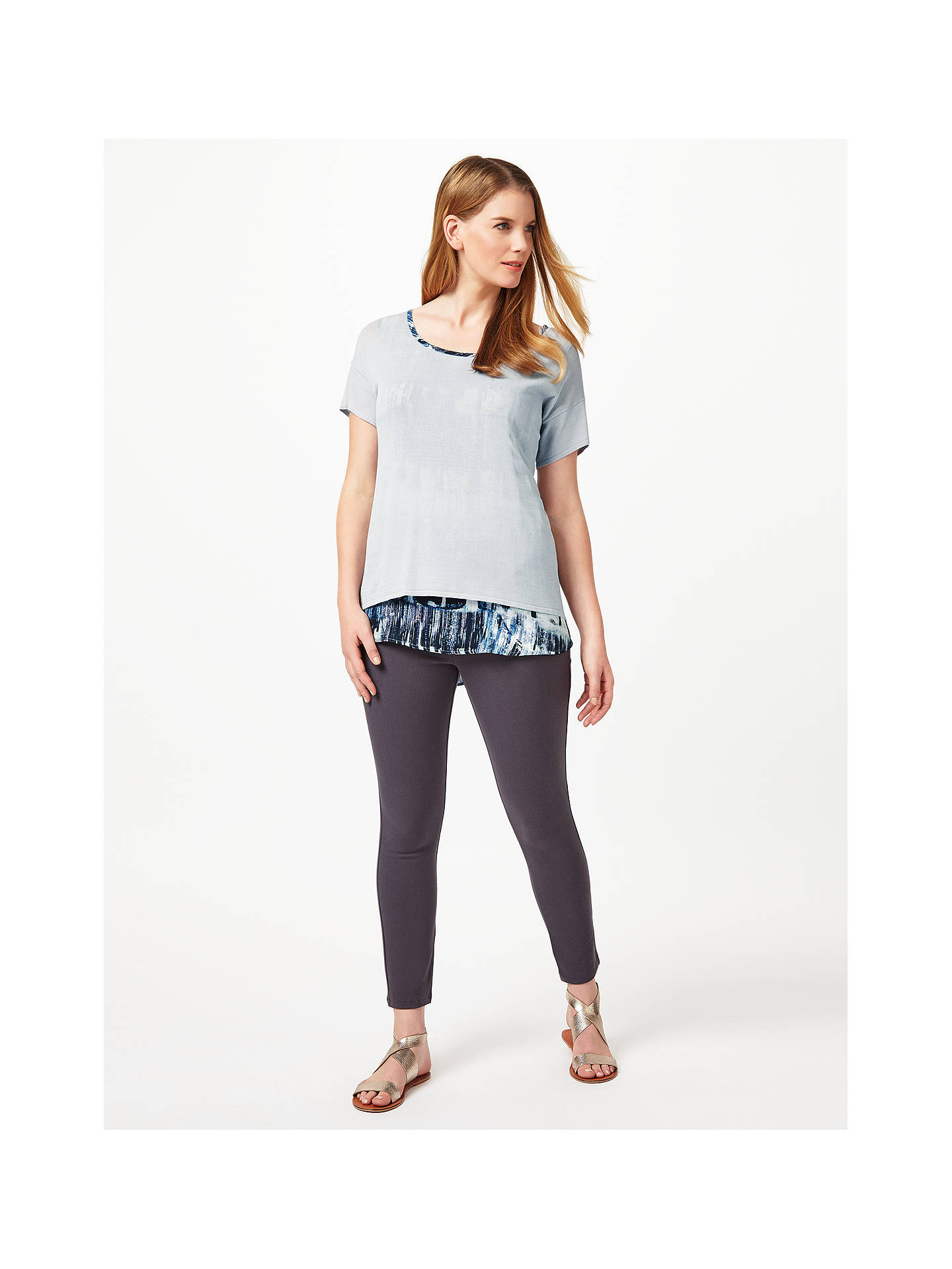 Buy Studio 8 Klarissa Top, Grey/Multi, 14 Online at johnlewis.com