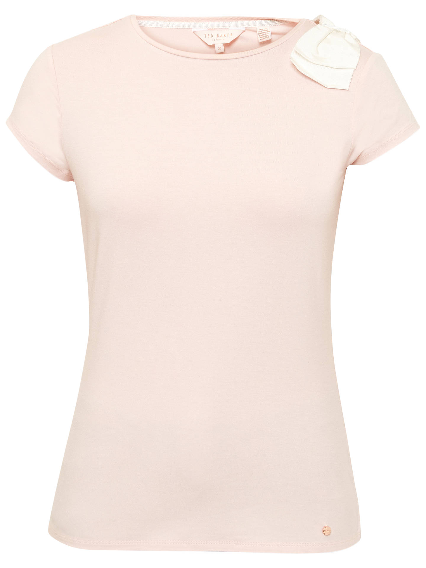 cb1586eee Ted Baker Bow Shoulder T-Shirt at John Lewis   Partners