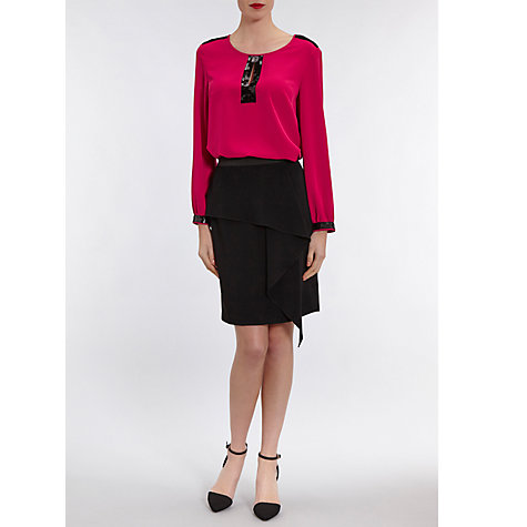 Buy Gina Bacconi Soho Crepe Blouse With Sequin Trim Online at johnlewis.com