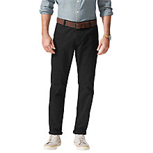 Buy Dockers Alpha Slim Fit Twill Trousers, Black Online at johnlewis.com