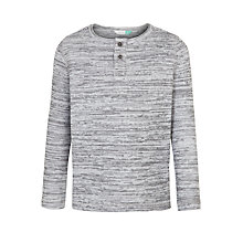 Buy John Lewis Boys' Space Dye Henley Top, Grey Online at johnlewis.com