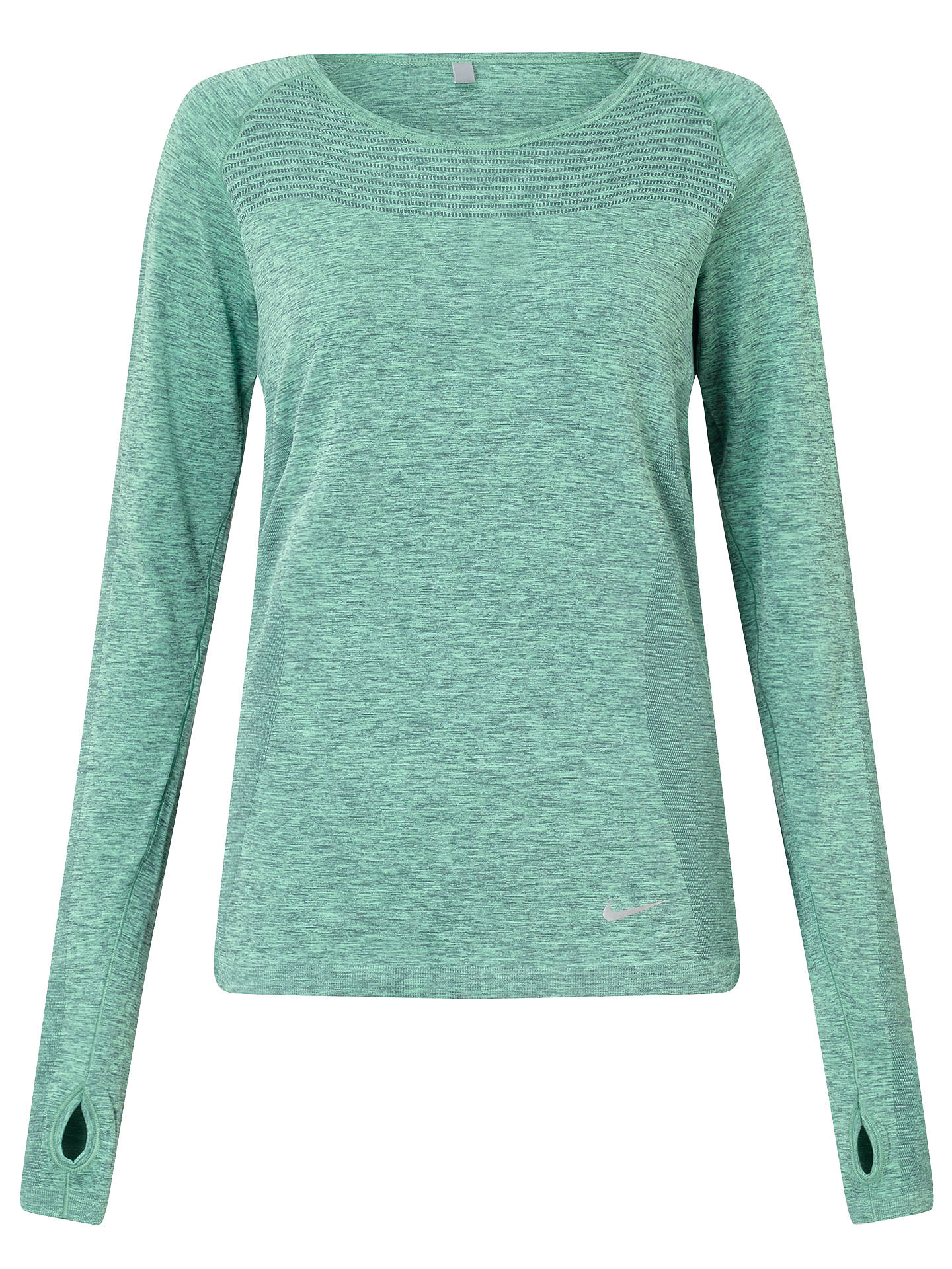 ddd4f0deb Buy Nike Dri-FIT Knit Long Sleeve Running Top, Hasta/Green Glow, ...