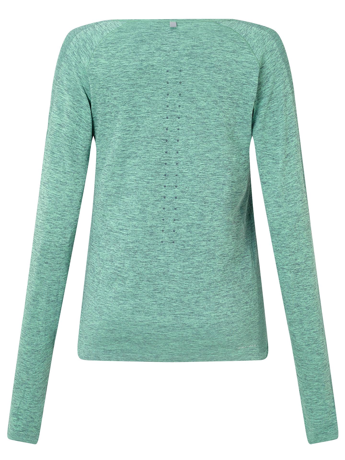 be5677225 ... Buy Nike Dri-FIT Knit Long Sleeve Running Top, Hasta/Green Glow, ...
