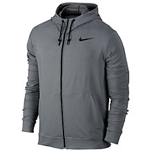Buy Nike Dry Training Hoodie, Cool Grey/Black Online at johnlewis.com