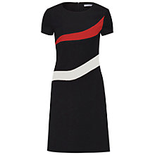 Buy Gina Bacconi Stretch Moss Crepe Panel Dress, Black Online at johnlewis.com