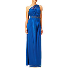 Buy Adrianna Papell One Shoulder Shirred Tulle Gown Online at johnlewis.com