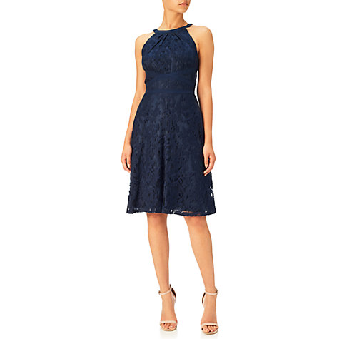 Buy Adrianna Papell Filigree Lace Dress, Midnight Blue Online at johnlewis.com