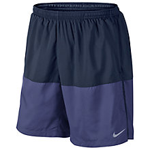 "Buy Nike Distance 7"" Running Shorts, Black/Navy Online at johnlewis.com"