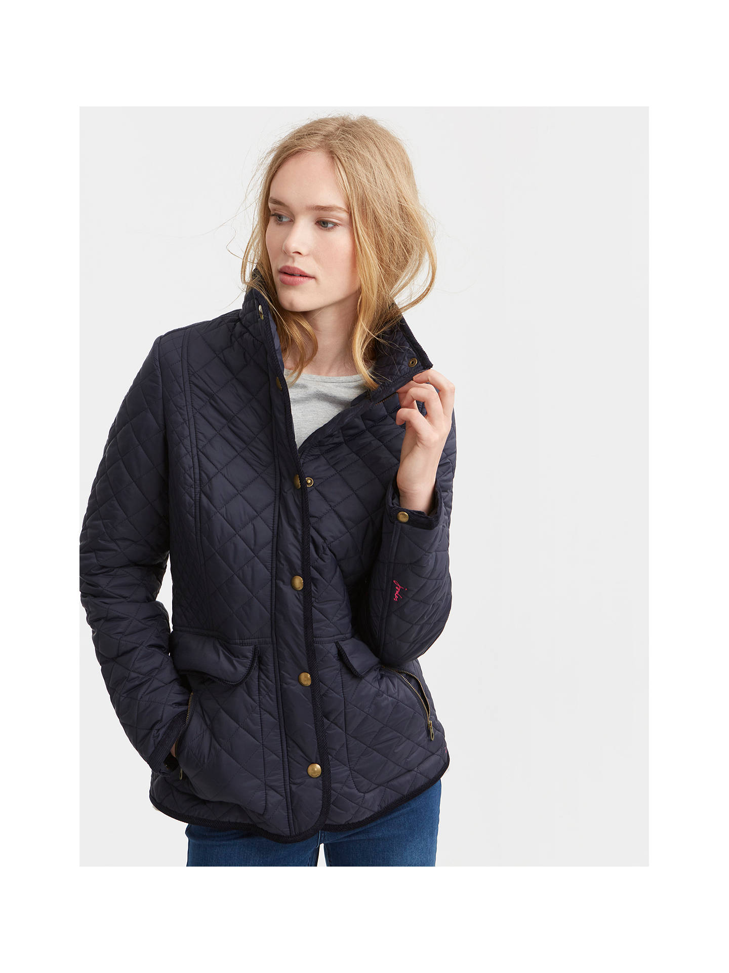 ec4b041a3 Joules Newdale Quilted Jacket, Marine Navy at John Lewis & Partners