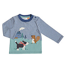 Buy John Lewis Baby Forest Scene Top, Blue/White Online at johnlewis.com