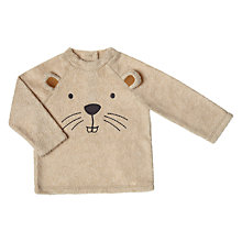 Buy John Lewis Baby Beaver Face Fleece, Cream Online at johnlewis.com