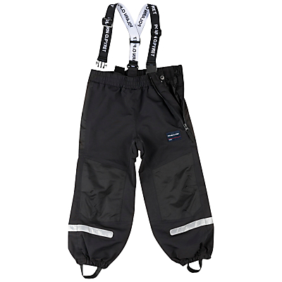 Image of Polarn O. Pyret Childrens' Waterproof Trousers, Black