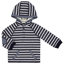 Buy John Lewis Baby Striped Hoodie, Blue/White Online at johnlewis.com