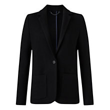 Buy Jigsaw Double Knit Jacket, Black Online at johnlewis.com