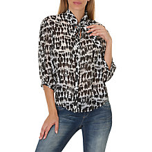 Buy Betty & Co. Printed Pussybow Blouse, Cream/Black Online at johnlewis.com
