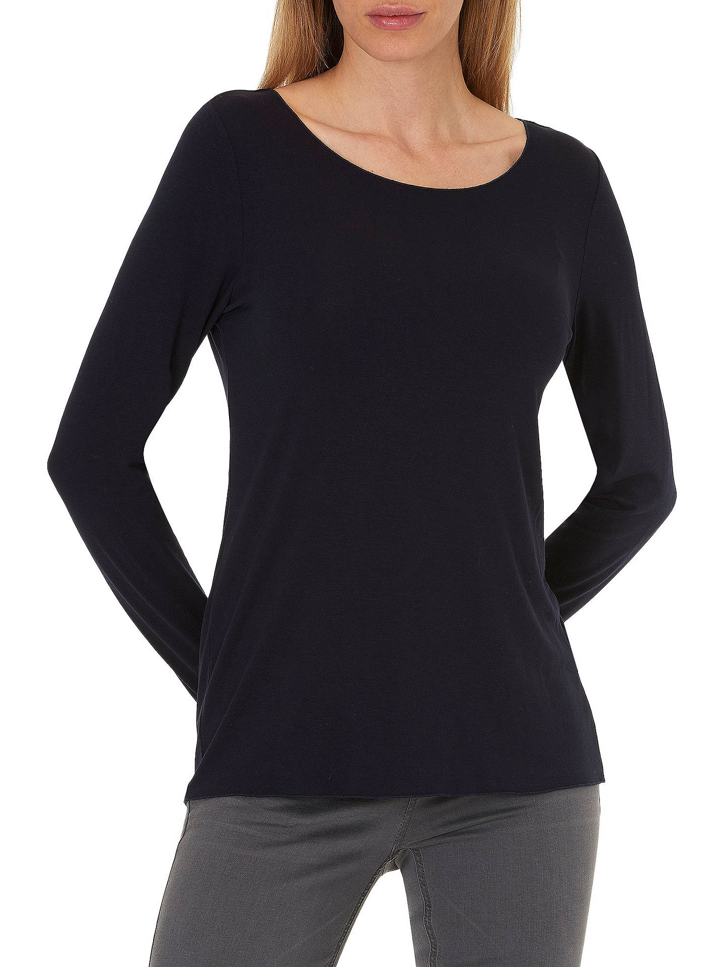 BuyBetty & Co. Long Sleeve T-Shirt, Dark Sapphire, S Online at johnlewis.com