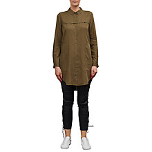 Buy French Connection Military Tencil Shirt Dress, Dark Olive Night Online at johnlewis.com
