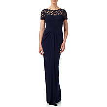 Buy Adrianna Papell Cap Sleeve Lace And Jersey Gown, Ink Online at johnlewis.com