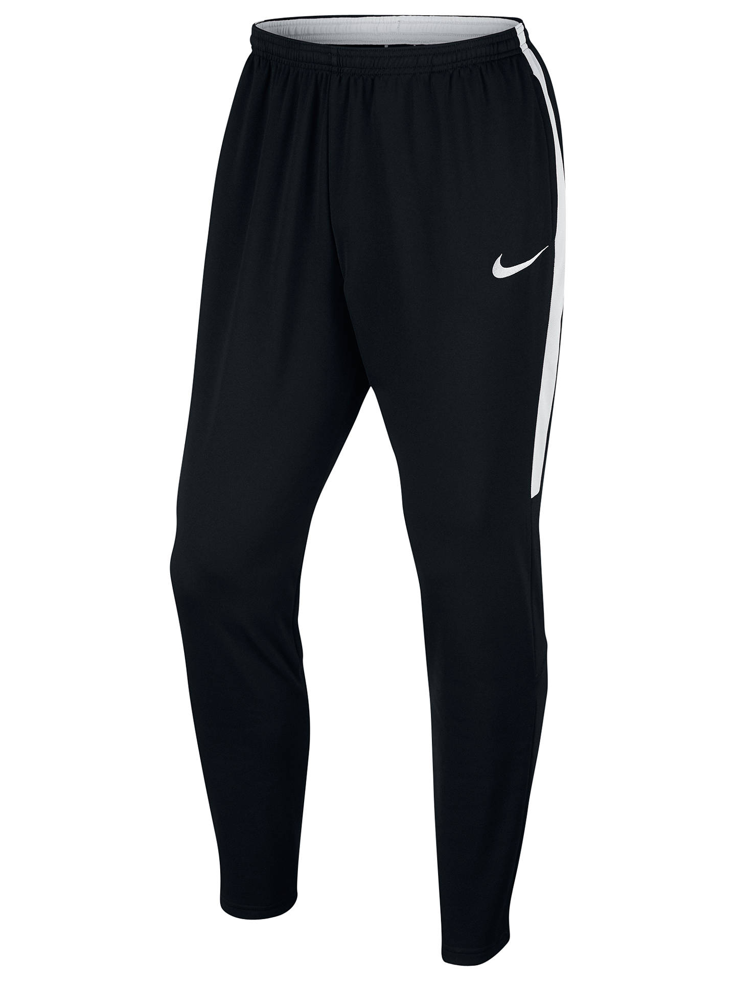 cc1d58291 Buy Nike Dry Academy Football Tracksuit Bottoms, Black/White, S Online at  johnlewis ...
