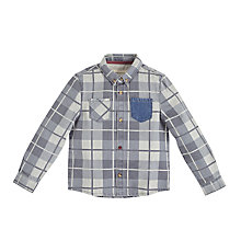 Buy Angel & Rocket Boys' Denim Check Shirt, Blue Online at johnlewis.com