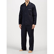 Buy John Lewis Diamond Dot Pyjamas, Navy Online at johnlewis.com