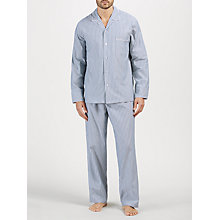 Buy John Lewis Oxford Stripe Pyjamas, Navy Online at johnlewis.com